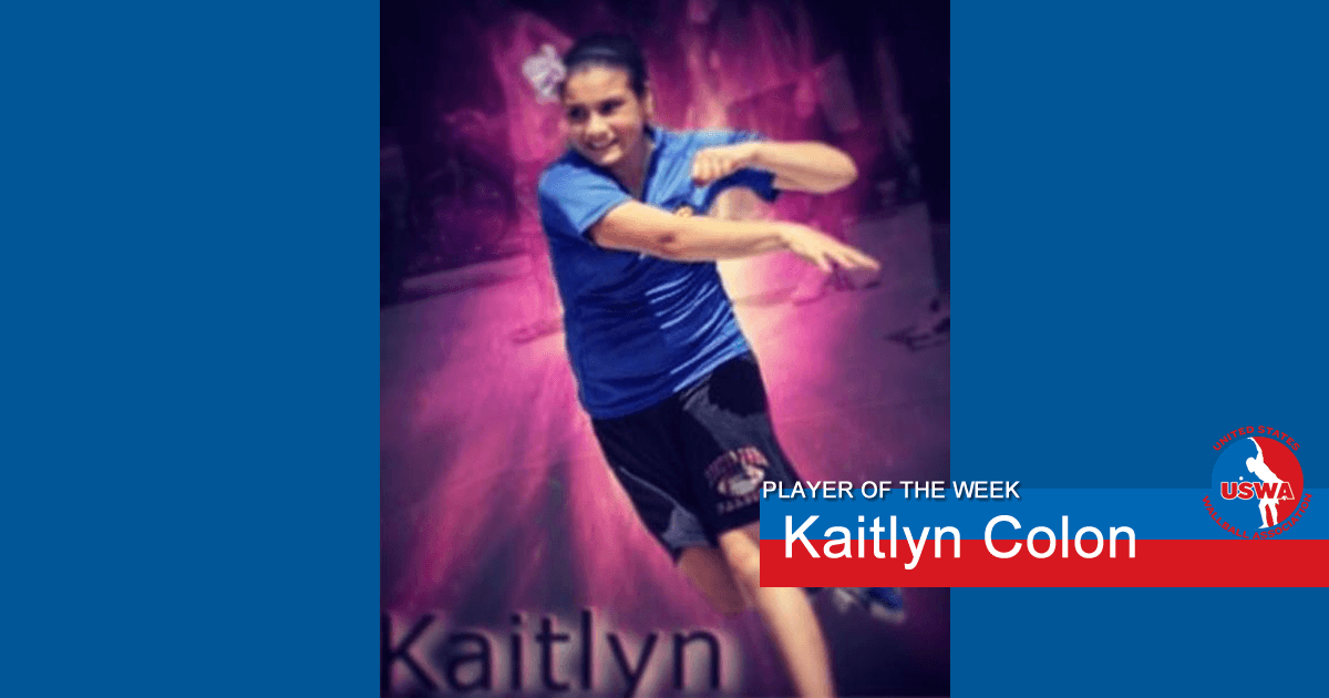 US Wall Ball Player of the Week Kaitlyn Colon