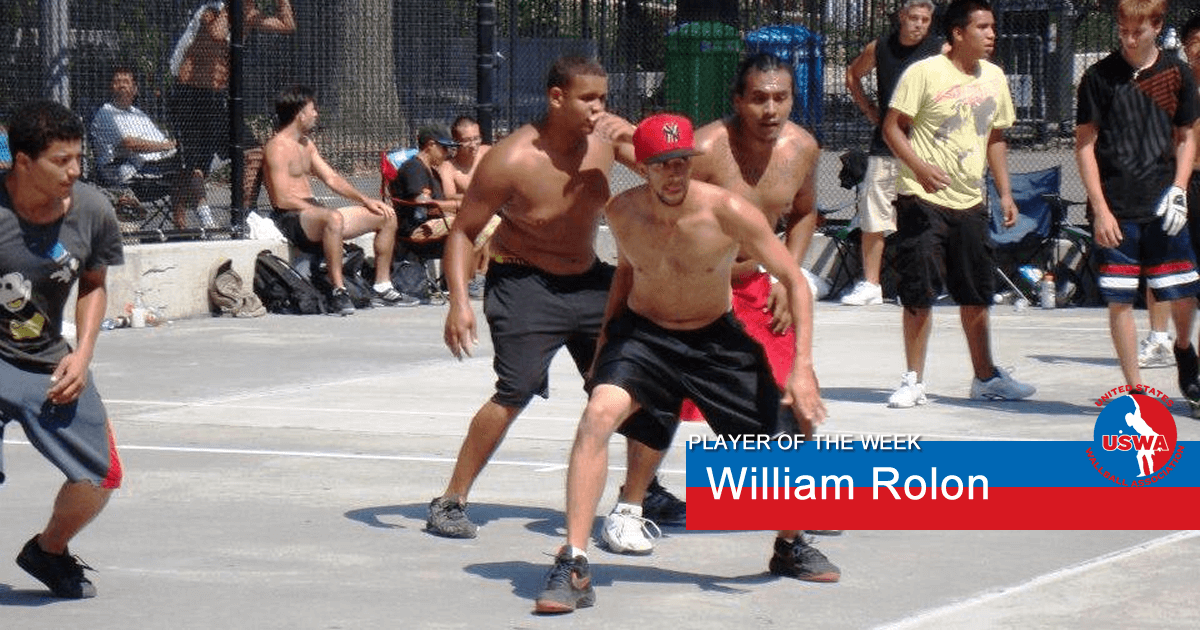 US Wall Ball Player of the Week William Rolon