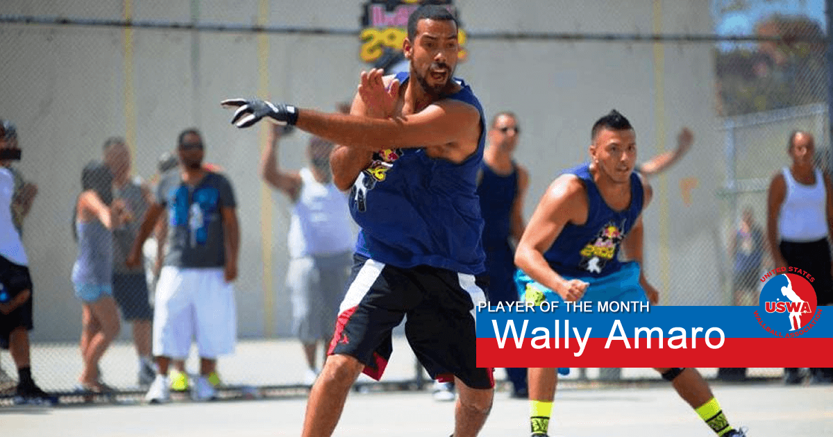 US Wall Ball Player of the Month Wally Amaro