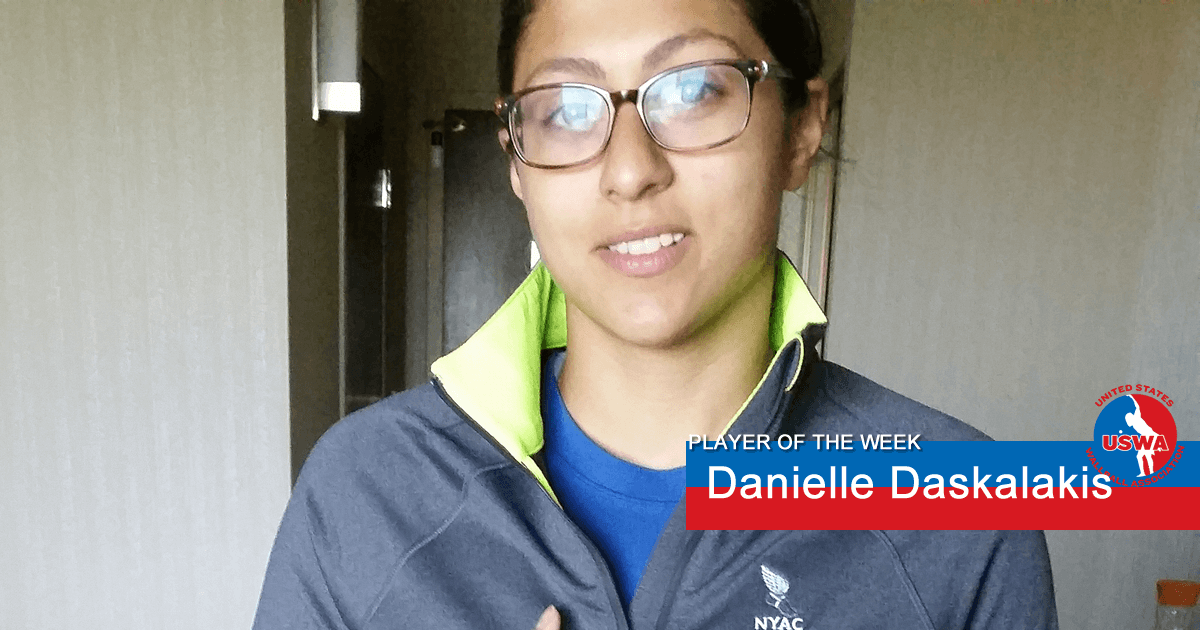 US Wall Ball Player of the Week Danielle Daskalakis
