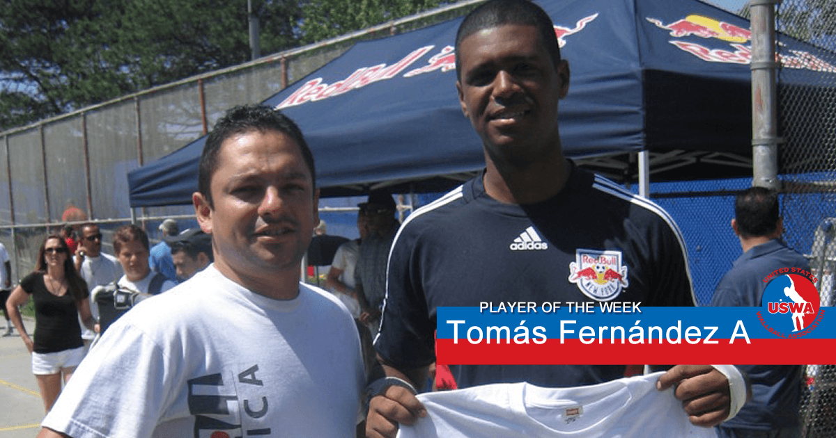 US Wall Ball PLayer of the week Tomas Fernandez